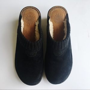 Ugg | Black Slide Wedges | Size 8
